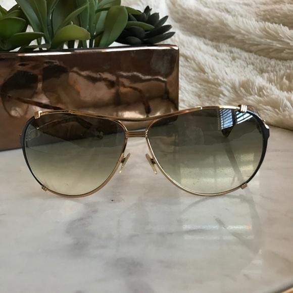 585cebe0160c Dior Accessories - Christian Dior Gold and Tortoise Aviator Sunglass